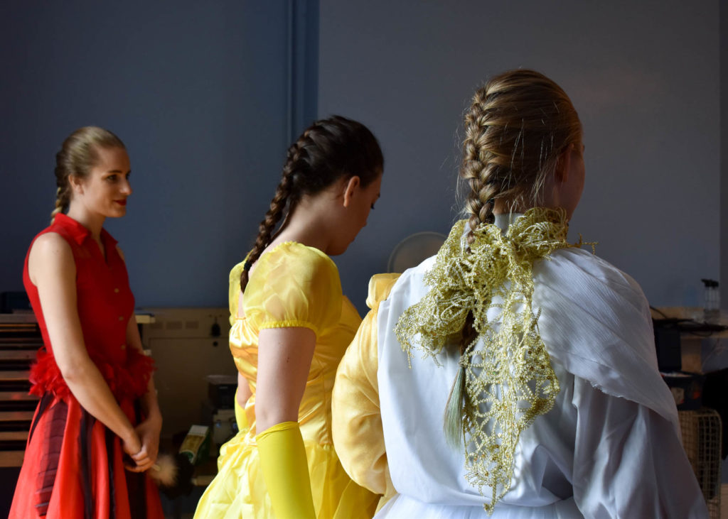Dancers waiting to enter stage