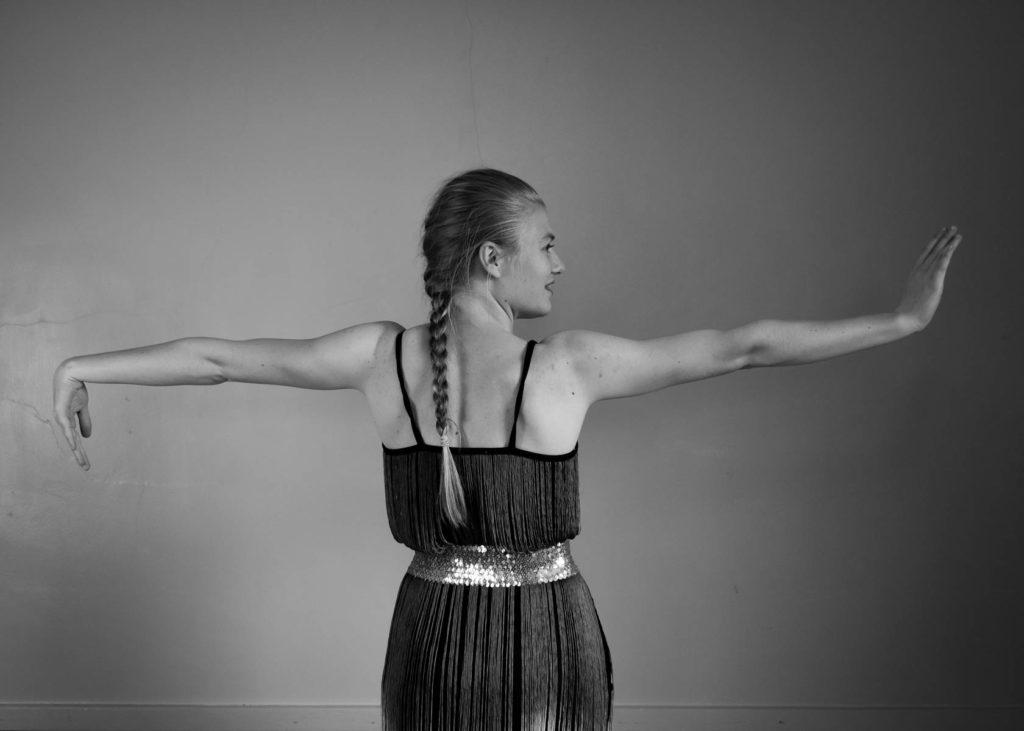 Monochrome Dancer Portrait
