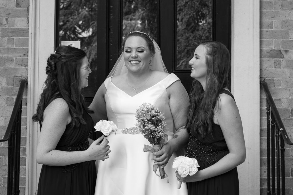 Bridesmaid and friends